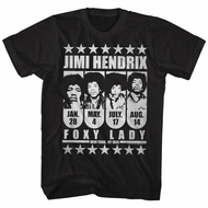 Jimi Hendrix Shirt New York 1970 Black T-Shirt