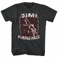 Jimi Hendrix Shirt Night Tripper 2 Black Heather T-Shirt