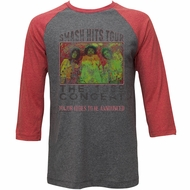 Jimi Hendrix Shirt Raglan Smash Hits Tour Grey/Red Shirt