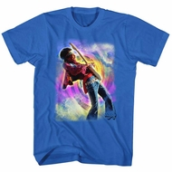 Jimi Hendrix Shirt Rainbow Swirls Royal T-Shirt