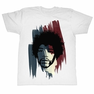 Jimi Hendrix Shirt Stripes White T-Shirt