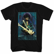 Jimi Hendrix Shirt Sunset Terrace Black T-Shirt