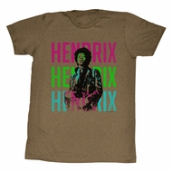 Jimi Hendrix Shirt The Colors Brown Heather T-Shirt