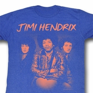 Jimi Hendrix Shirt The Jim Gang Adult Heather Blue Tee T-Shirt