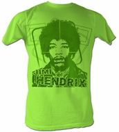 Jimi Hendrix T-shirt - Jimi Green Adult Neon Mint Heather Tee Shirt