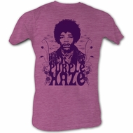 Jimi Hendrix T-shirt - Purple Haze Adult Neon Purple Heather Tee Shirt