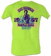 Jimi Hendrix T-shirt - Purple J's Adult Neon Mint Heather Tee Shirt