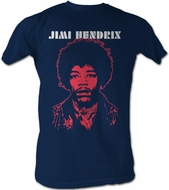 Jimi Hendrix T-shirt - VJ Adult Navy Blue Tee Shirt