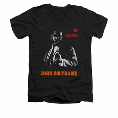 John Coltrane Shirt Slim Fit V-Neck Star Dust Black T-Shirt