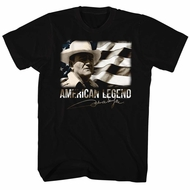 John Wayne Shirt American Legend Black T-Shirt