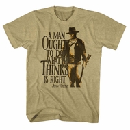 John Wayne Shirt Do Whats Right Earth T-Shirt