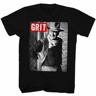 John Wayne Shirt GRIT Black T-Shirt