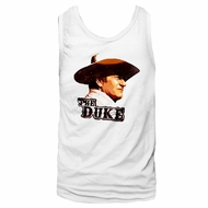 John Wayne Shirt Tank Top The Duke White Tanktop