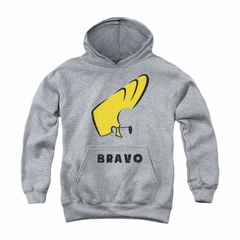 Johnny Bravo Youth Hoodie Imaginary Athletic Heather Kids Hoody