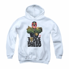 Judge Dredd Youth Hoodie Aiming White Kids Hoody