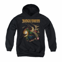 Judge Dredd Youth Hoodie Punch Blast Black Kids Hoody