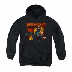 Judge Dredd Youth Hoodie Shooting Black Kids Hoody