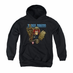 Judge Dredd Youth Hoodie Snarl Black Kids Hoody