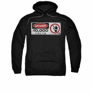 Jurassic Park Hoodie Sweatshirt Electric Fence Black Adult Hoody Sweat Shirt