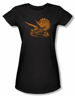 Jurassic Park Juniors T-shirt Movie Tri Dinosaur Mount Black Tee Shirt