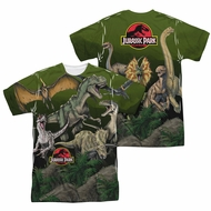 Jurassic Park Pack Of Dinos Sublimation Shirt Front/Back Print