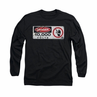 Jurassic Park Shirt Electric Fence Long Sleeve Black Tee T-Shirt
