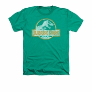 Jurassic Park Shirt Jp Orange Adult Heather Kelly Green Tee T-Shirt
