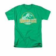 Jurassic Park Shirt Jp Orange Adult Kelly Green Tee T-Shirt