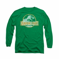 Jurassic Park Shirt Jp Orange Long Sleeve Kelly Green Tee T-Shirt