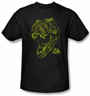 Jurassic Park T-shirt Movie Rex Dinosaur Mount Adult Black Tee Shirt