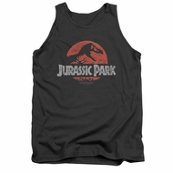 Jurassic Park Tank Top Faded Logo Charcoal Tanktop