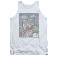 Jurassic Park Tank Top Giant Door White Tanktop