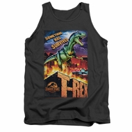 Jurassic Park Tank Top Rex In The City Charcoal Tanktop