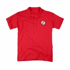 Justice League Embroidered Polo Shirt Flash Red