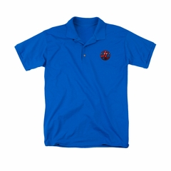 Justice League Embroidered Polo Shirt Logo Royal Blue