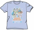 Justice League - Female Super Powers Light Blue Adult Tee