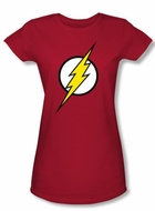 Justice League Juniors T-shirt Flash Logo Superheroes Red Tee Shirt