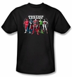 Justice League Kids T-shirt Superheroes The Big Five Youth Black Shirt