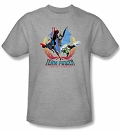 Justice League Kids T-shirt Team Power Youth Heather Gray Tee Shirt