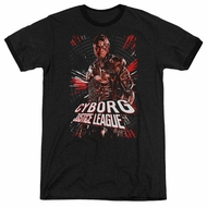 Justice League Movie Cyborg Profile Black Ringer Shirt