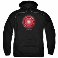 Justice League Movie Hoodie Cyborg Logo Black Sweatshirt Hoody