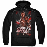 Justice League Movie Hoodie Cyborg Profile Black Sweatshirt Hoody