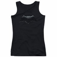 Justice League Movie Juniors Tank Top Batman Logo Black Tanktop
