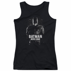 Justice League Movie Juniors Tank Top Batman Profile Black Tanktop