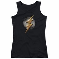 Justice League Movie Juniors Tank Top Flash Logo Black Tanktop