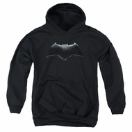 Justice League Movie Kids Hoodie Batman Logo Black Youth Hoody