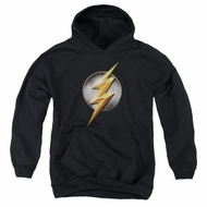 Justice League Movie Kids Hoodie Flash Logo Black Youth Hoody