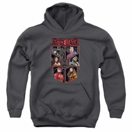 Justice League Movie Kids Hoodie League of Six Charcoal Youth Hoody