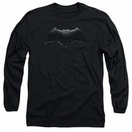 Justice League Movie Long Sleeve Shirt Batman Logo Black Tee T-Shirt