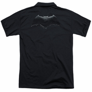 Justice League Movie Polo Batman Logo Black Back Print Golf Shirt
